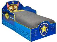 Barnesenger : Paw Patrol Chase Toddler Bed with underbed storage by HelloHome - Paw Patrol Børnemøbler 660423