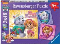Puslespill : Glamourous Girls 3x49p - Ravensburger Paw patrol puzzle 080083
