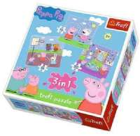 Puslespill : 3 In 1 Peppa Pig Puzzle - Børne spil 34813