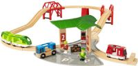 Brio Trælegetøj : Travel Station Set - Brio togbane 33627