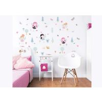 Barnemøbler : My Woodland Friends Wall Stickers - Walltastic woodland børneværelse 44944