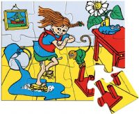Puslespill : Wooden Pippi Jigsaw Puzzle, 12 - Pippi Puslespil 443782