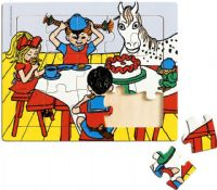 Puslespill : Pippi Frame Puzzle, 15 Pcs - Pippi Puslespil 443783