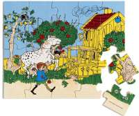 Puslespill : Wooden Pippi Jigsaw Puzzle, 20 - Pippi Puslespil 443784