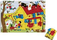Puslespill : Pippi Peg Puzzle Wood, 12 Pc - Pippi Puslespil 443791